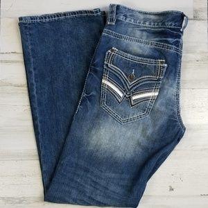 Men's Affliction Black Premium Cooper Jeans 34